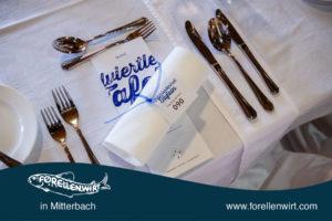 Mühlviertlerisch Tafeln Tischdeko