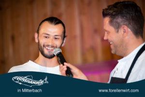 Lukas Plöchl alias Wendja und Mike Süßer auf der Bühne