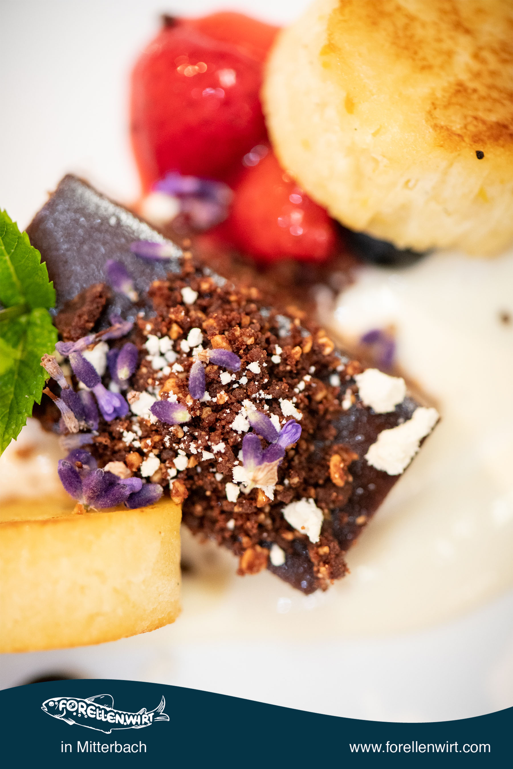 Köstliche Desserts beim Forellenwirt in Mitterbach