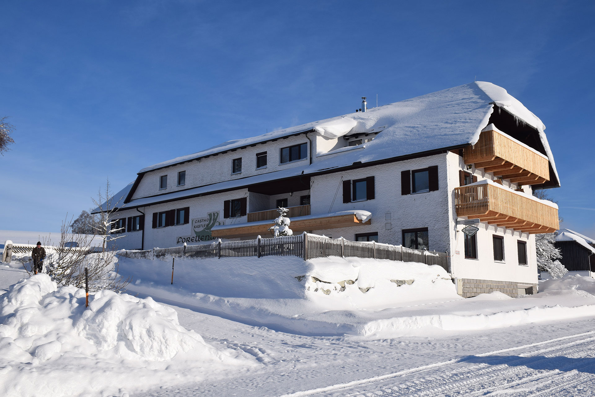 Winterurlaub Oberösterreich - Langlaufen - Forellenwirt in Mitterbach - Winter 2019
